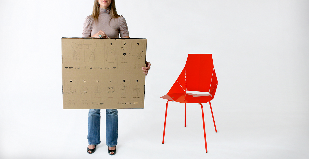 Real Good Chair By Blu Dot. Flat Pack, Bend It Yourself Metal Chair